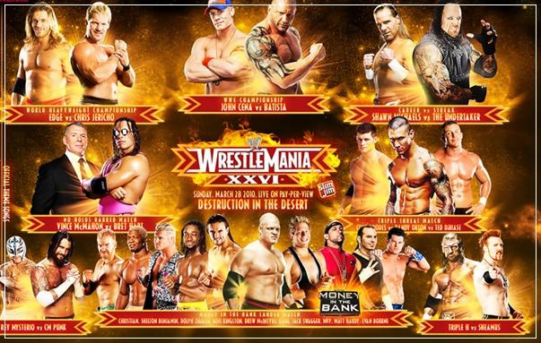 أربعة من أعظم مهرجانات الريستلمانيا حصريا على دريم سات Wrestlemania26